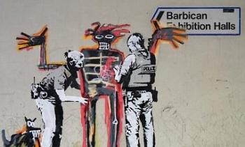 Бэнкси сделал новые граффити по случаю выставки Баския: фото