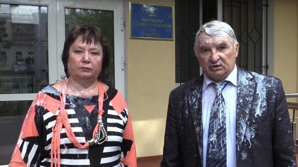 Витренко облили кефиром: полиция начала расследование