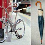 Суперкомпактный велосипед, який одним натисканням складається до розмірів парасольки