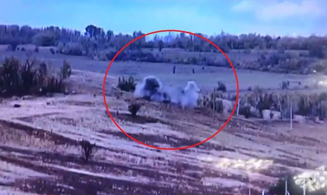"""""""Ой, добрий!"""": військові опублікували відео прямого попадання з позиції окупантів"""