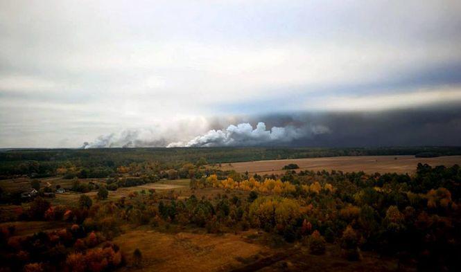 Під Ичней локалізували 35% пожежі, вибухи лунають кожні п'ять хвилин