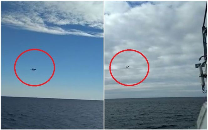 ВСУ оприлюднили відео провокації російського Су-27 проти українських кораблів