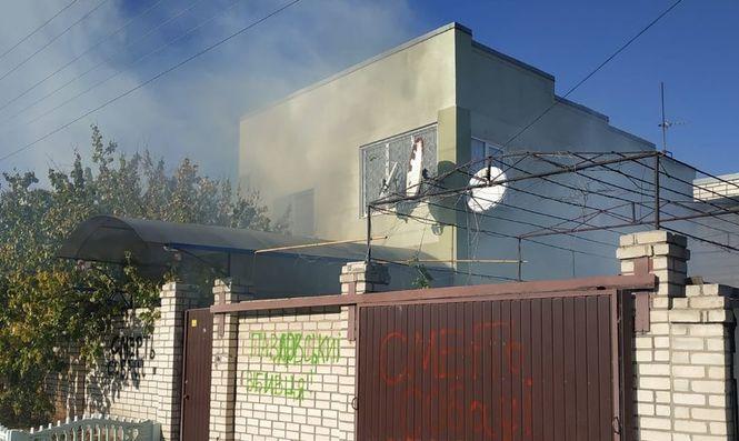 Активісти в день похорону Гандзюк закидали фаєрами управління Нацполиции і підпалили домоволодіння Павловського