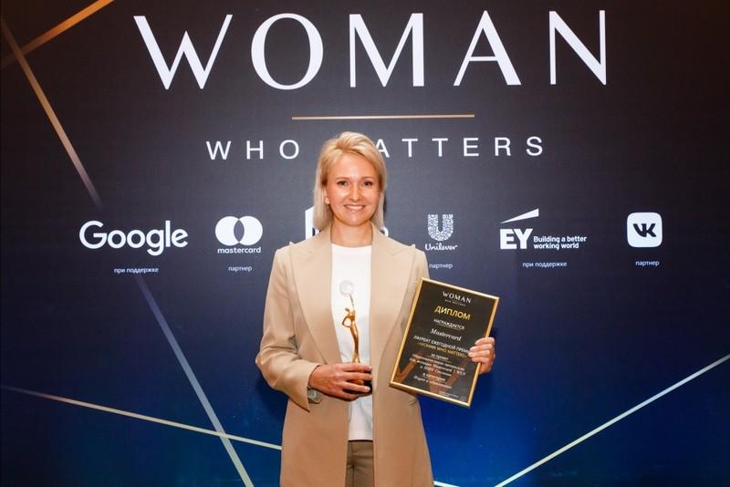 Образовательная программа для женщин Mastercard снова стала лауреатом премии Woman Who Matters