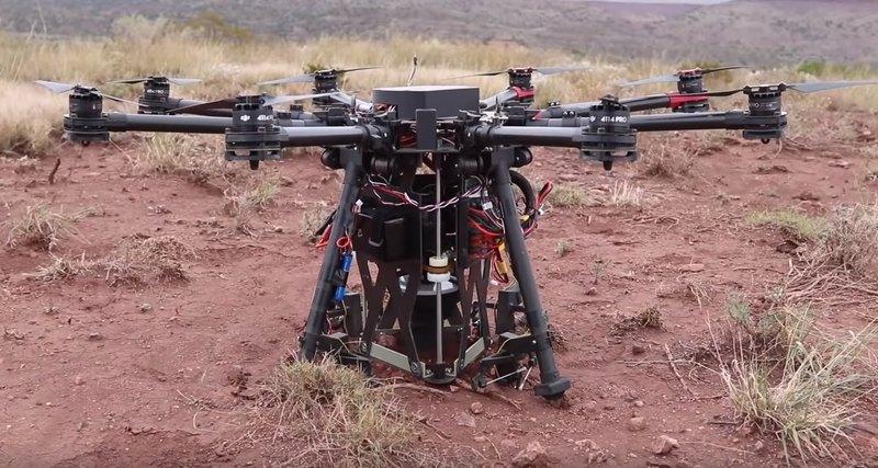 Американцы изобрели дрона, способного бурить землю