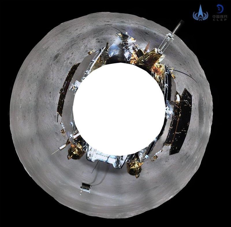 Первый панорамный снимок обратной стороны Луны