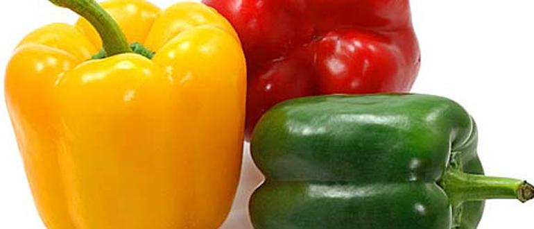Чем отличается зелёный, жёлтый и красный болгарский перец