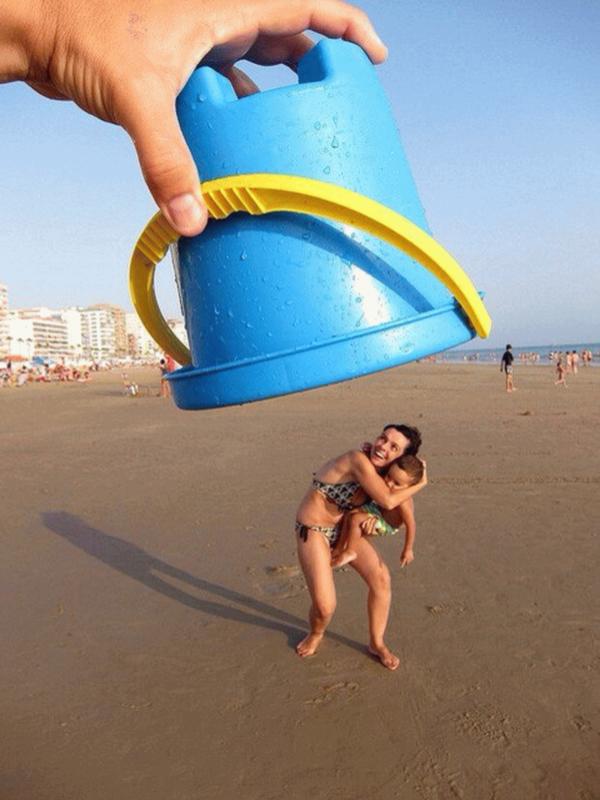 Прикольные фото на пляже, днем
